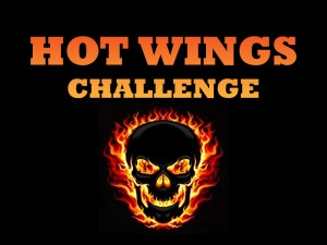 Destin Florida Ghost Chili Hot Wing Challenge at Landshark's Pizza