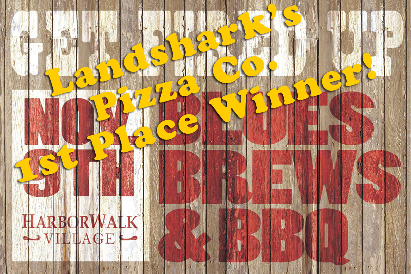 landshark's pizza company of destin fl wins 1st place at blues brews and bbq 2013