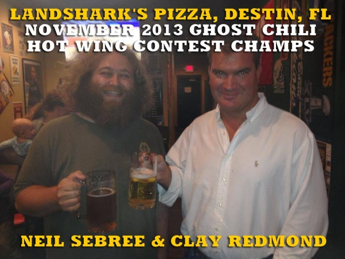 Landshark's Pizza Co. November 2013 Ghost Chili Hot Wing Challenge Winners