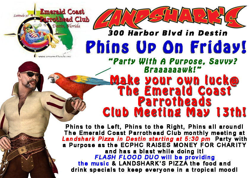 Destin FL Parrothead Meetings at Landsharks Pizza