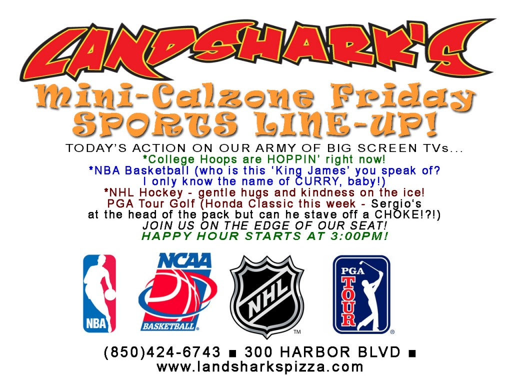 FRIDAY Sports Lineup Landsharks Destin Sports Bar Restaurant