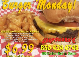Landsharks Burger Monday in Destin FL
