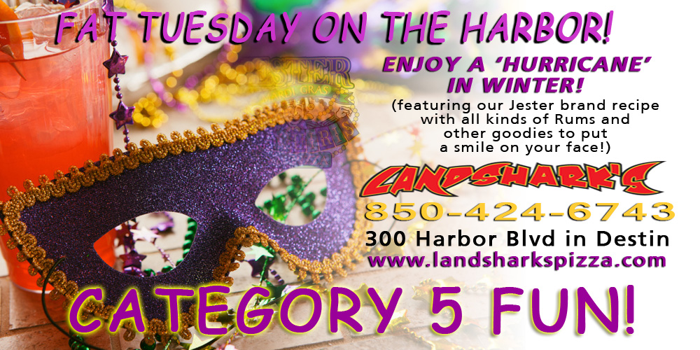 Landsharks Pizza and Wings Drink FAT TUESDAY - JESTER HURRICANE