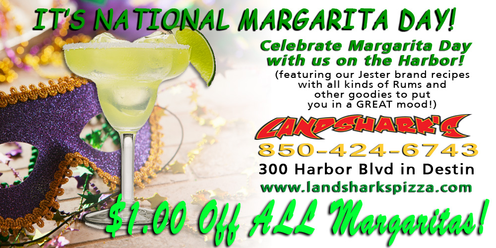 Landsharks Pizza and Wings Drink - NATIONAL MARGARITA DAY