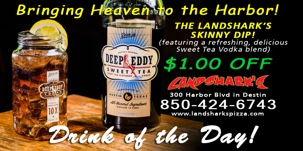 Landsharks Sports Bar Destin FL Drink of the Day SKINNY DIP