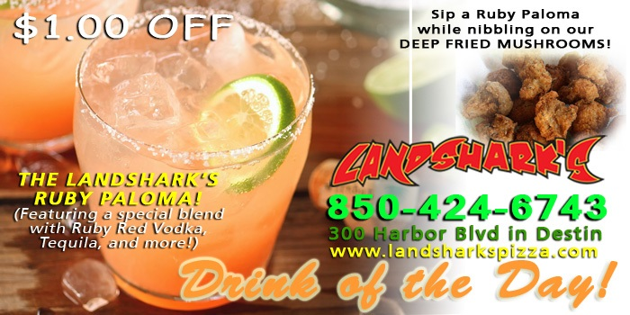 Landsharks Sports Bar Destin FL Drink of the Day THE RUBY PALOMA