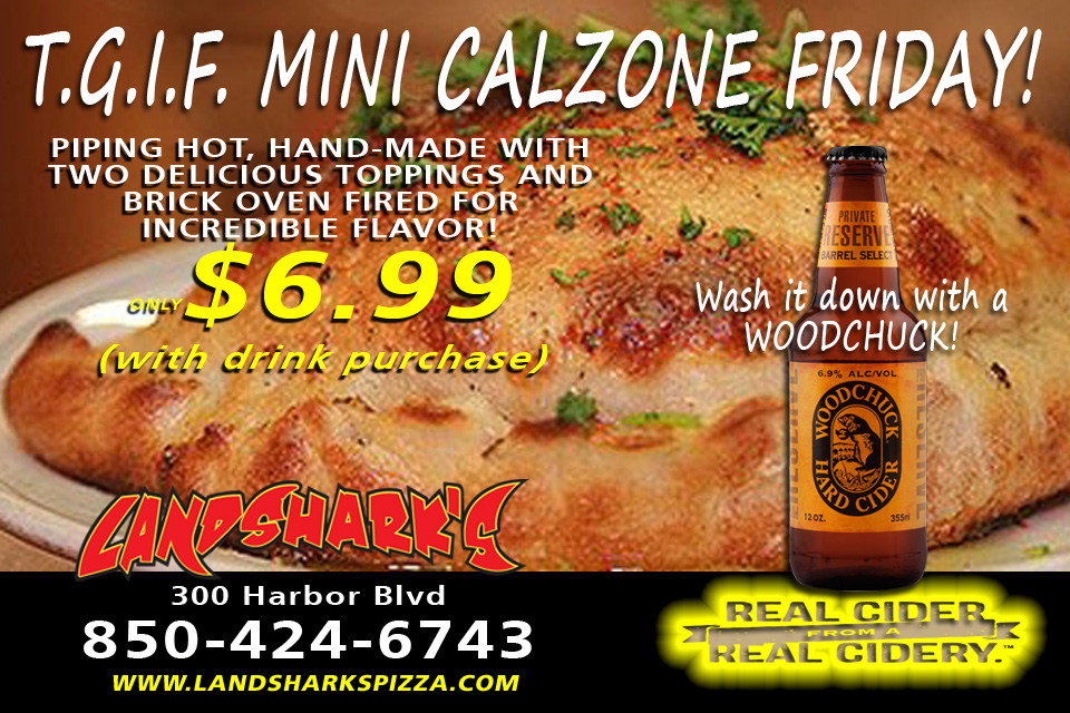 TGIF Mini Calzones FRIDAY Landsharks Pizza Sports Bar in Destin Florida