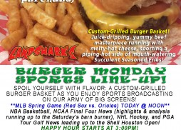 Burger Monday at Landshark's Pizza and Wings in Destin Florida 03-28-16
