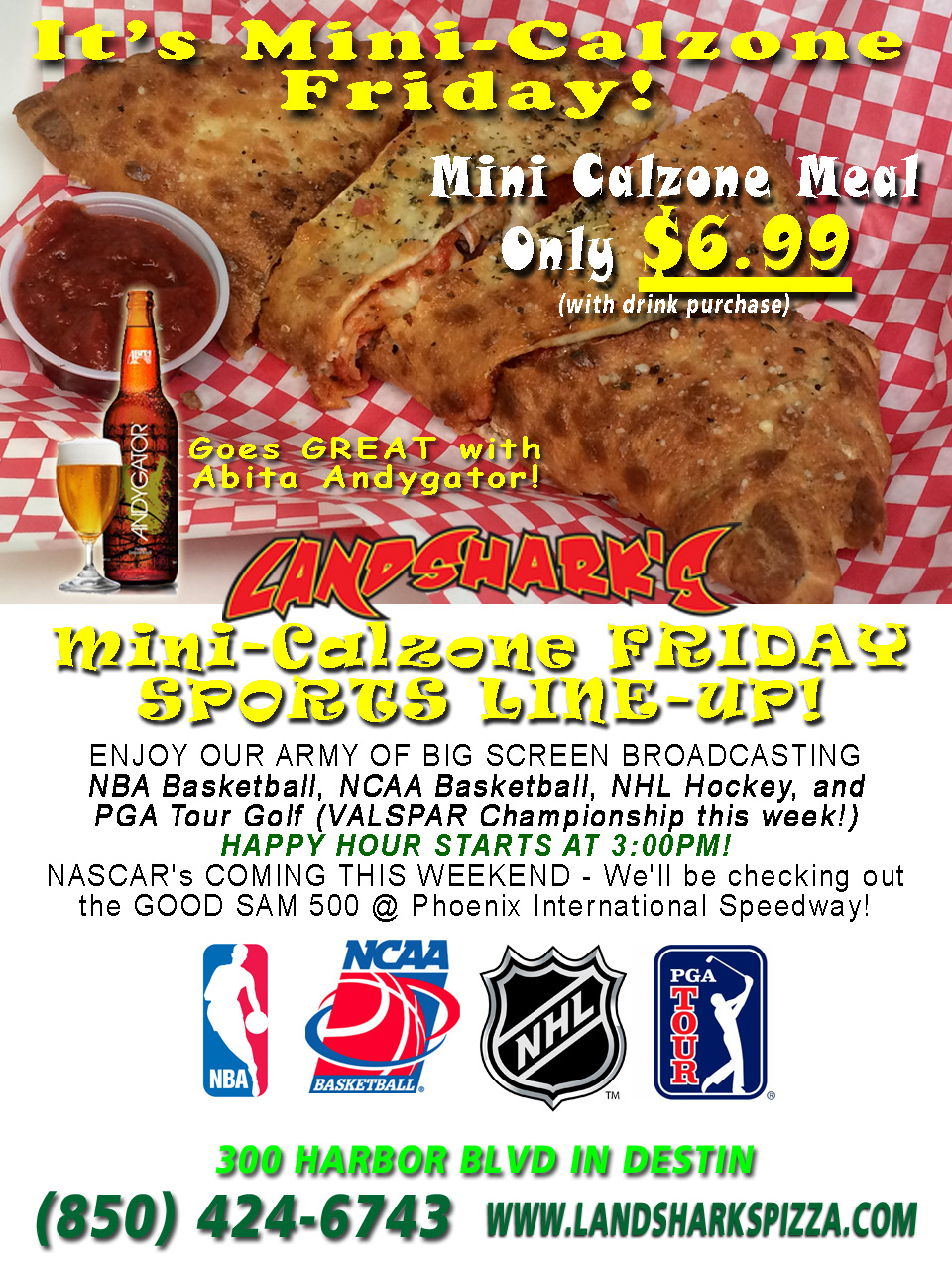 Destin Best Calzone Landsharks Pizza Friday Special 02