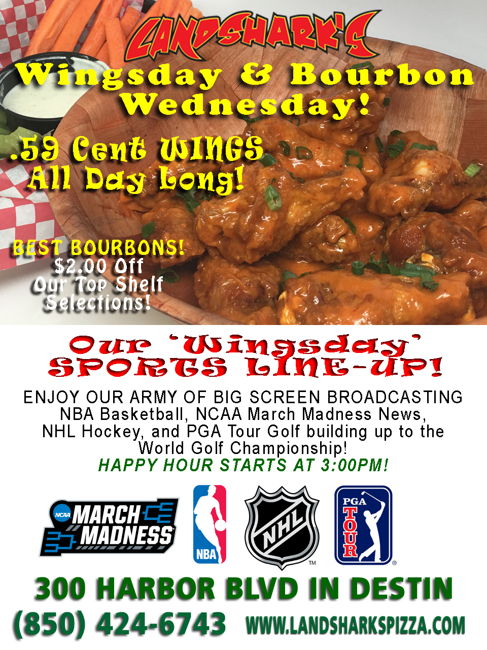 Landsharks Destin FL Hot Wings Wednesday 01