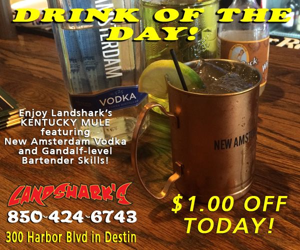 Landsharks Destin Sports Bar Restaurant Drink of the Day Kentucky Mule