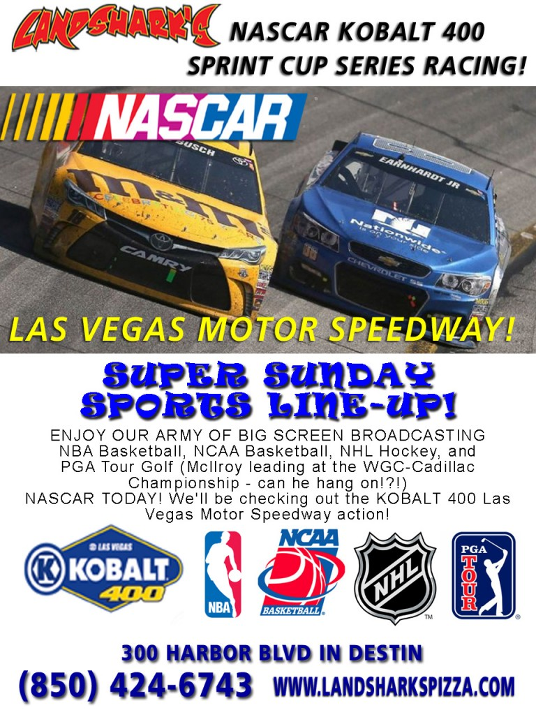Landsharks Pizza Destin FL Super Sports Sunday 02