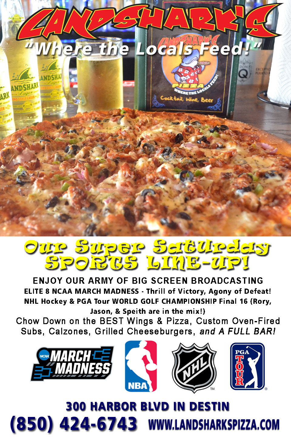 Landsharks Super Saturday Sports Lineup Destin Sports Bar