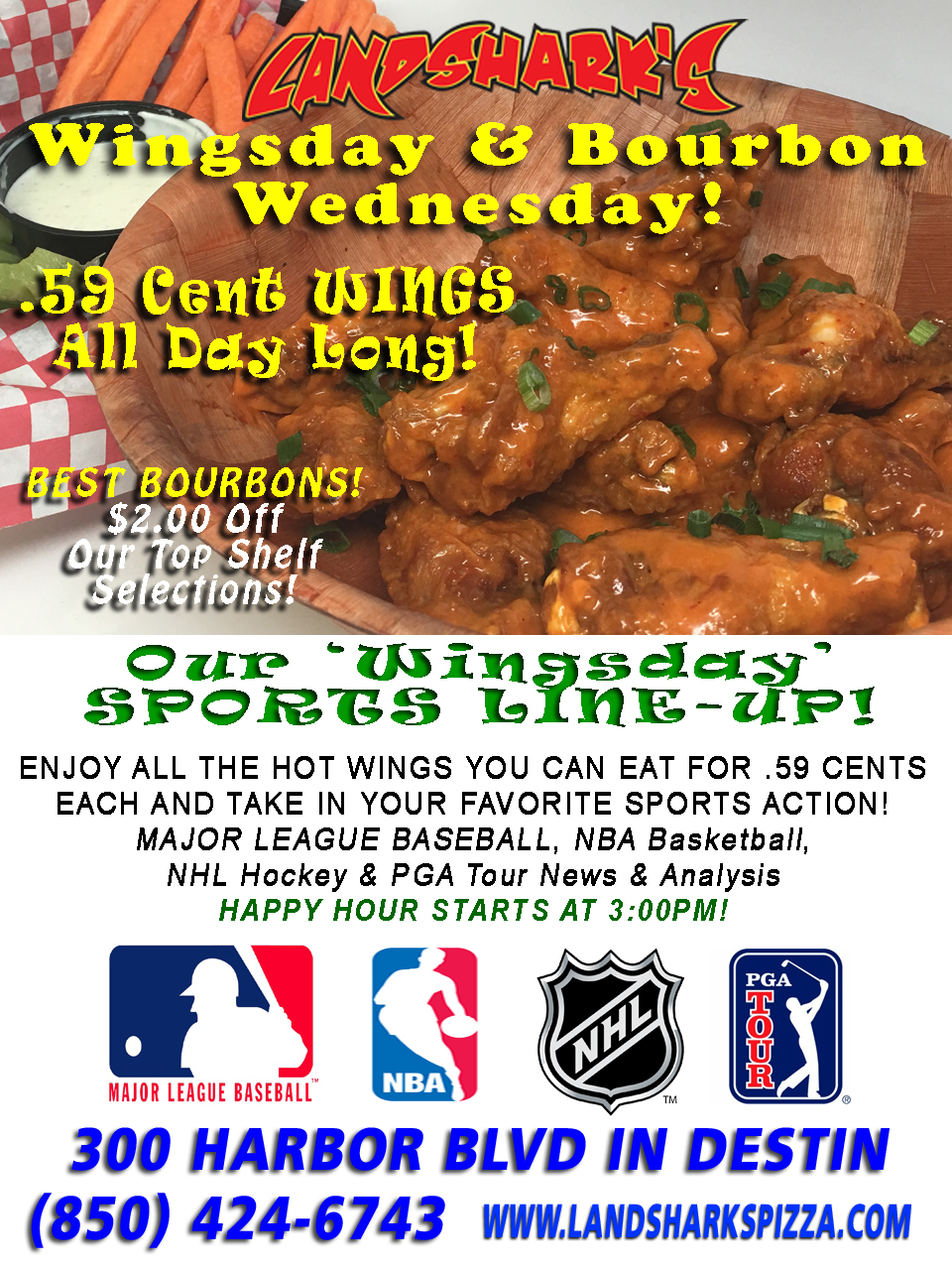 Best Buffalo Hot Wings in Destin FL Landsharks Wing Wednesday