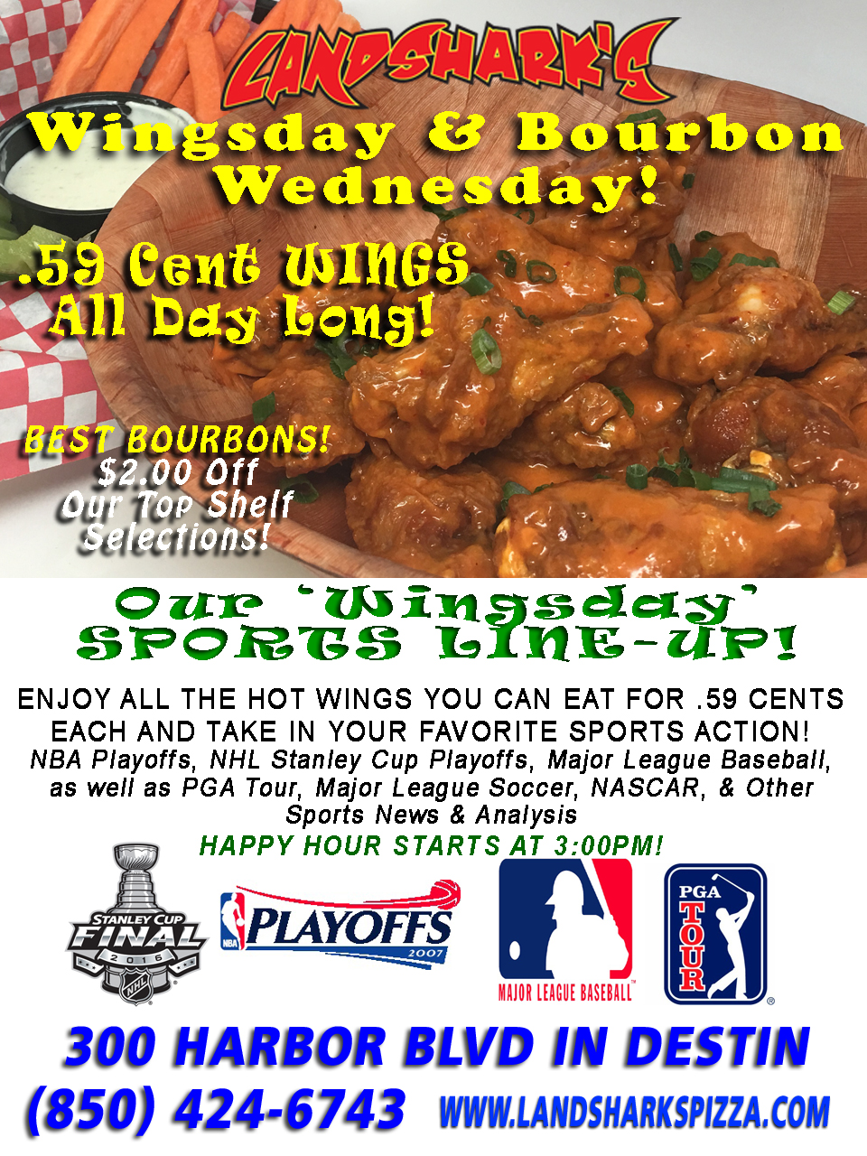 Best Buffalo Hot Wings in Destin FL Landsharks Wingsday 04-20-16a