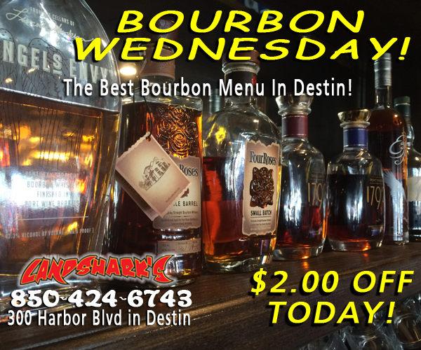 Destin FL Bourbon Drink of the Day at Landsharks