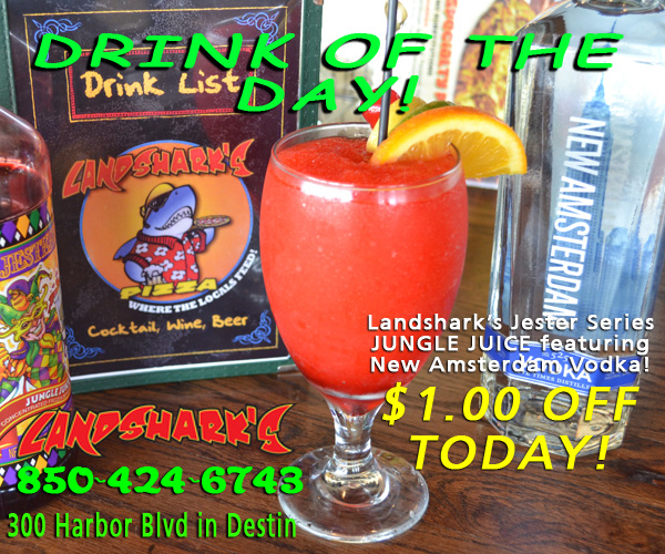 Destin FL Drink of the Day - Jester Jungle Juice at Landsharks