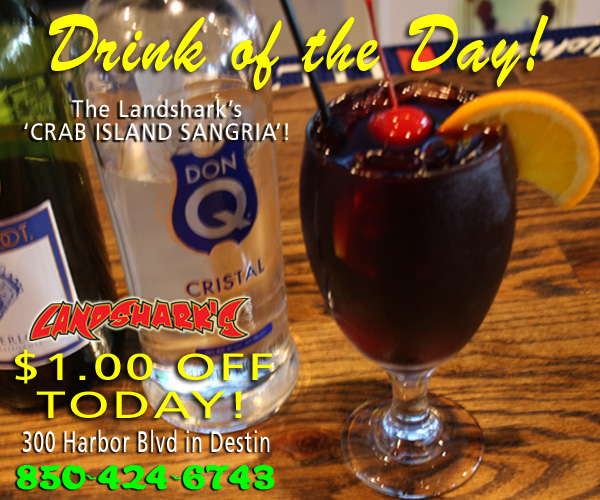 Destin FL Drink of the Day - Landsharks Crab Island Sangria