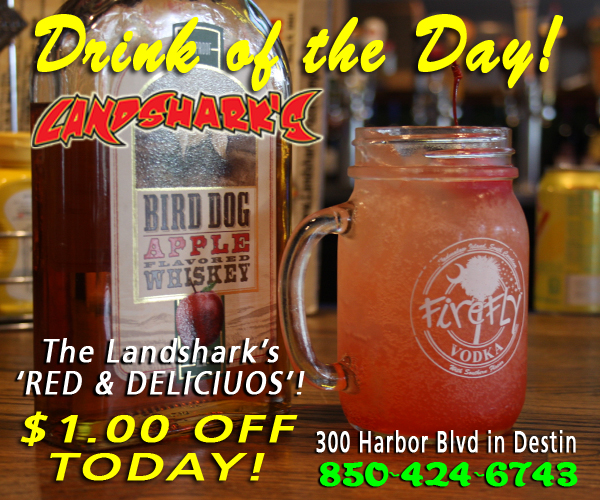 Destin FL Drink of the Day - Landsharks Red and Delicious