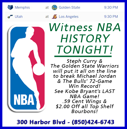 Destin Sports Bar Restaurant Landsharks NBA Games