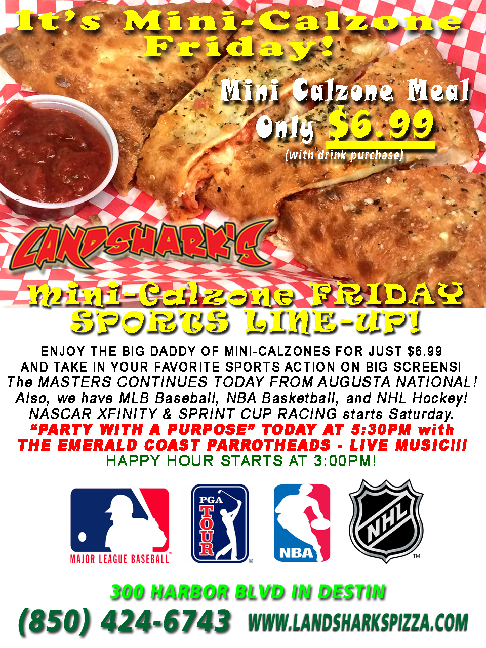 Landsharks Destin FL Best Calzone Friday Special