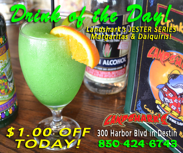 Landsharks Destin FL Sports Restaurant Drink Jester Margarita
