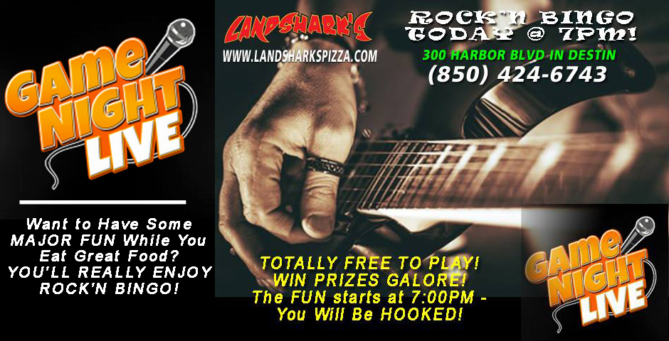 Rockn Bingo Destin FL Landsharks Pizza and Wings