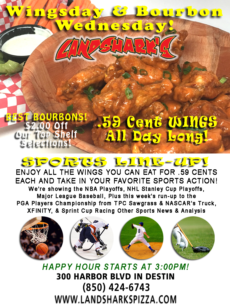 Best Buffalo Hot Wings in Destin FL Landsharks Sports Restaurant Bar