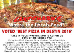 Best Sports Bar in Destin Landsharks Pizza Co Saturday Line-up