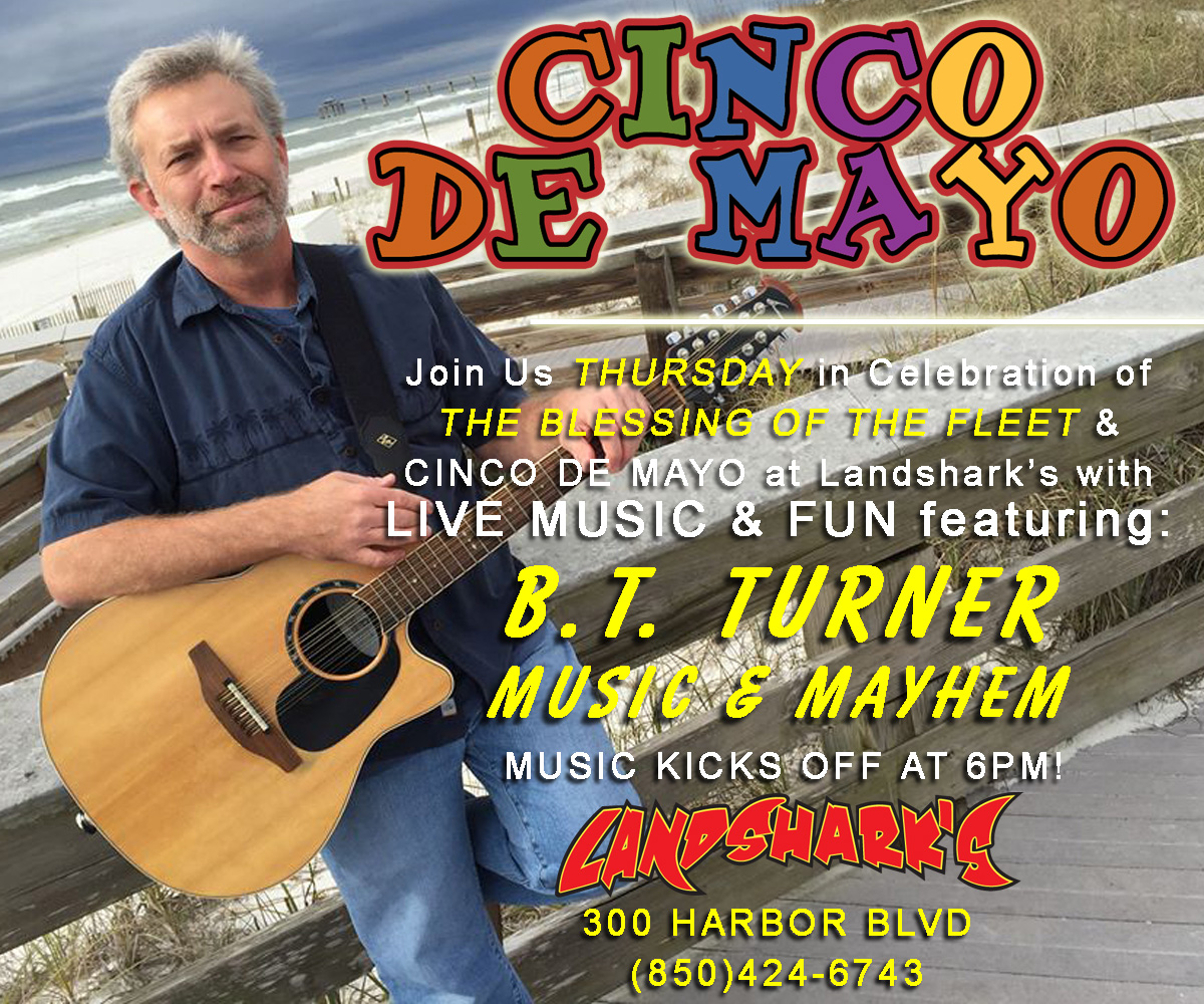 Destin Fl Cinco de Mayo at Landsharks Pizza