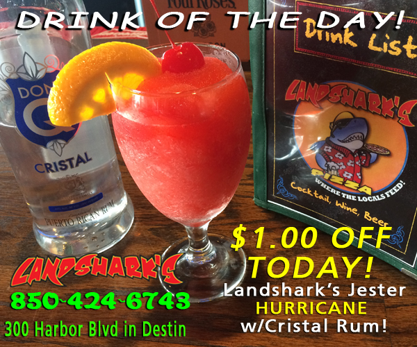 Destin FL Drink of the Day - the Landsharks Hurricane