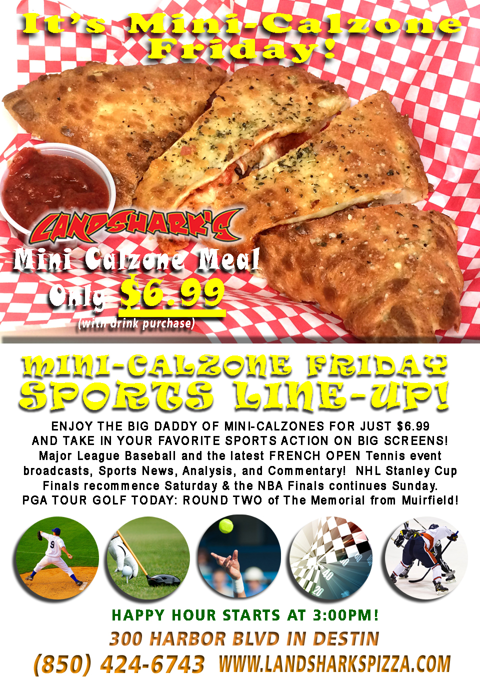 Best Calzones in Destin FL Award Winning Landsharks Calzone