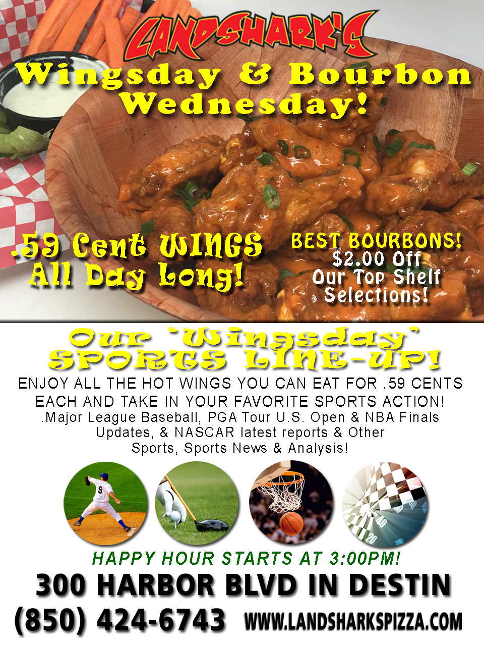 Best Wings in Destin FL Landsharks Wing Wednesday