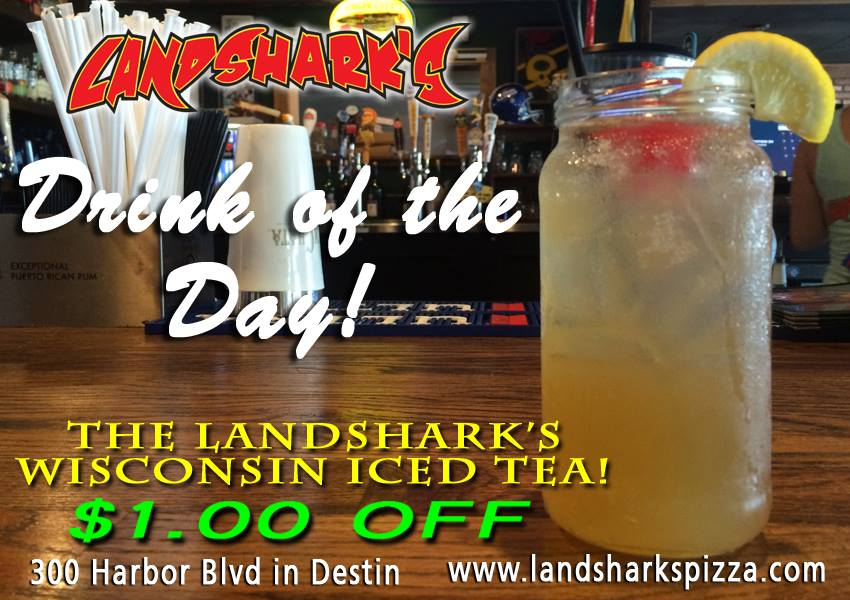 Destin FL Cocktails at Landsharks - Drink of the Day Wisconsin Iced Tea