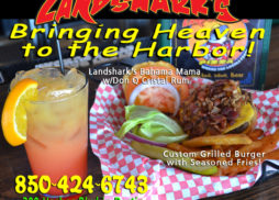 Landsharks Pizza and Wings of Destin Bahama Mama and Burger Basket