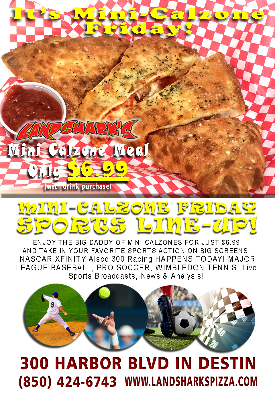 Award-Winning Calzone Destin FL Landsharks Pizza Co
