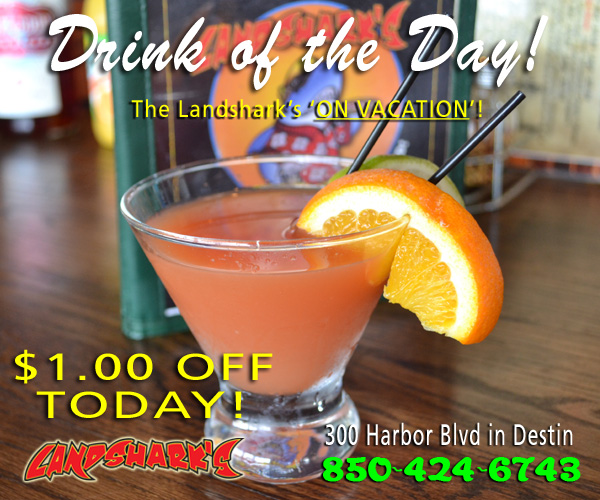 Destin FL Cocktails Drink Specials Landsharks Pizza