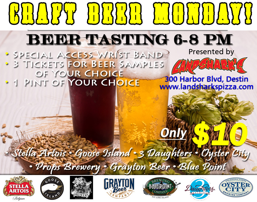 Destin FL Craft Beer Special at Landsharks Sports Restuarant