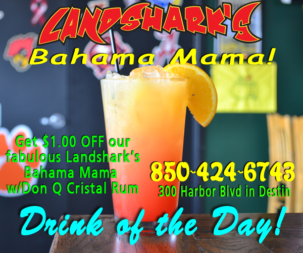 Landshark's Pizza and Wings Destin FL Drink of the Day