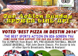 Sports Action in Destin FL Big Screens Landsharks Pizza