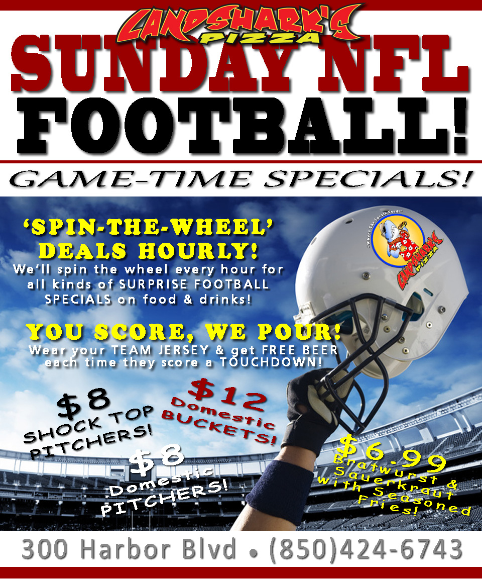 Action-Packed NFL Football Food & Drink Specials Plus YOU SCORE WE POUR, MLB, BMW Finale ...