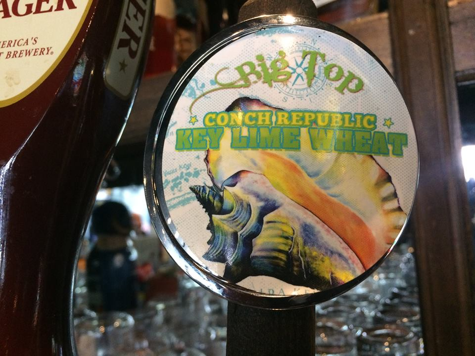Conch Republic Key Lime Pie Wheat Beer at Landshark's in Destin FL