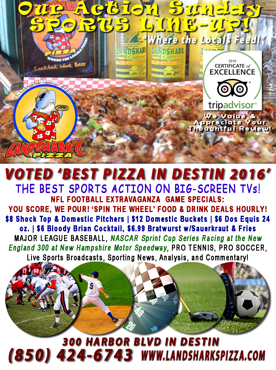 destin-nfl-football-at-landsharks-pizza-food-and-drink-specials-weekly-10-02-16