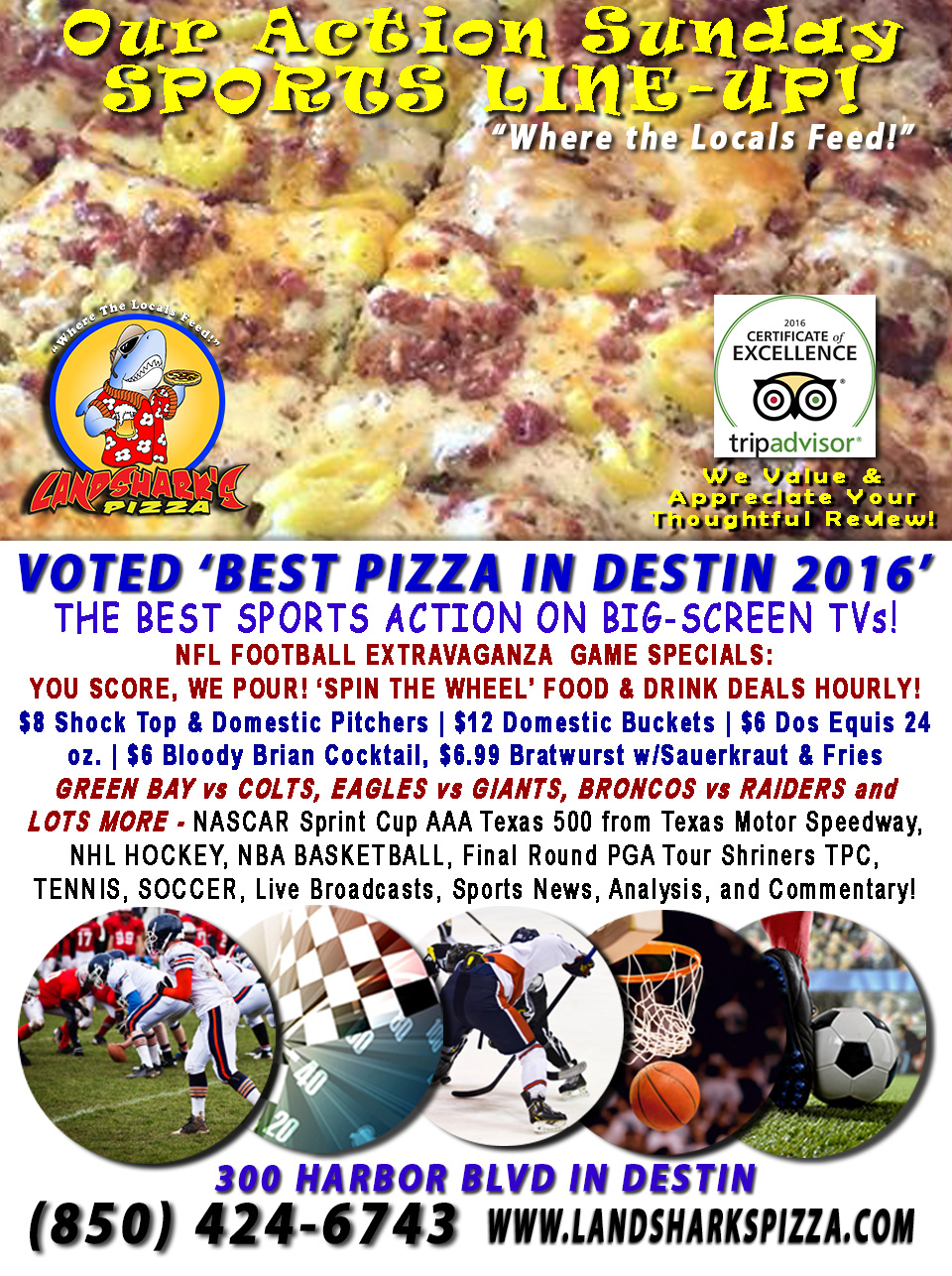 destin-fl-nfl-football-sunday-landsharks-pizza-hourly-specials-11-06-16a