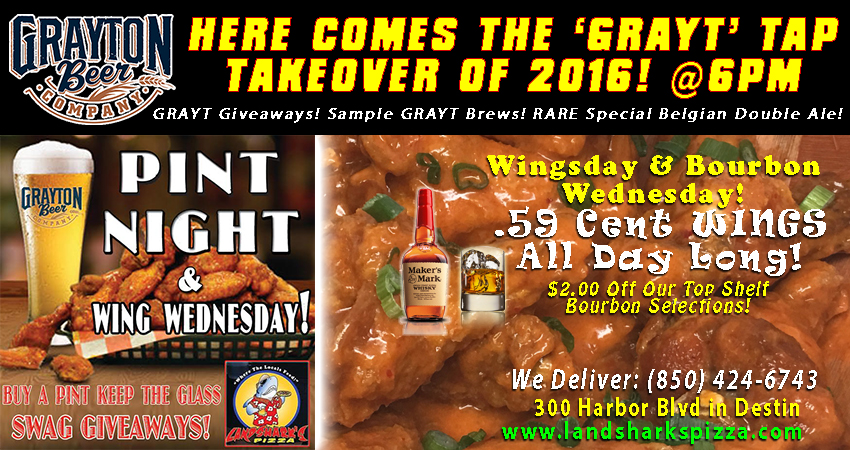 THE 'GRAYT' TAP TAKEOVER 2016 – WED. DEC 28TH@6PM! GIVEAWAYS! GRAYT CRAFT BEER & WINGS!