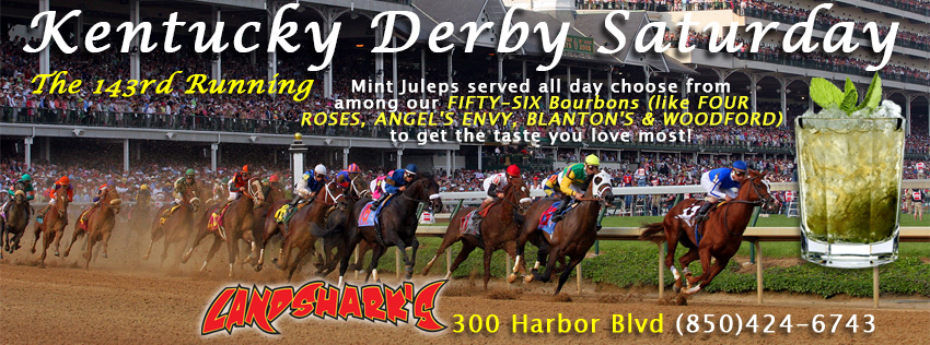 Kentucky Derby SPORTS BAR Destin FL 2017 Landshark's Pizza Company