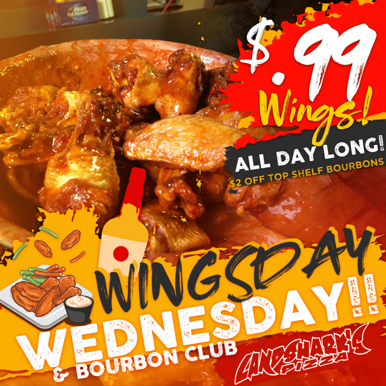 99 Wing Wednesdays and bourbon club