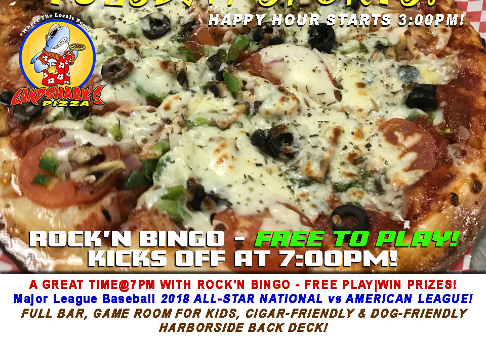 Destin FL Award-Winning Menu Wings Subs Full Bar Landsharks Pizza Company Destin Florida 07-17-18a