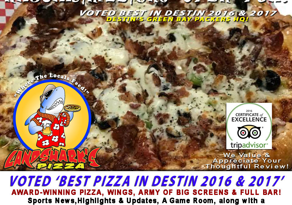 Best Pizza and Wings in Destin Florida Landsharks Pizza Company 07-21-18a
