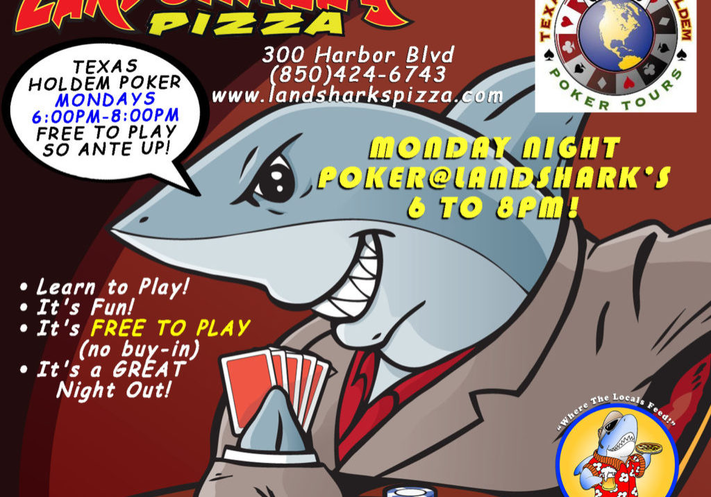 Destin FL Texas Holdem Poker Landsharks Monday Nights c